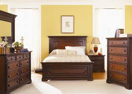 Liberty Furniture Industries Bedroom Sets Addison Panel Bed 6 Piece Bedroom Set In Cherry Finish By Liberty