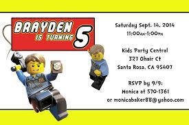 novel concept designs lego birthday party thank you card