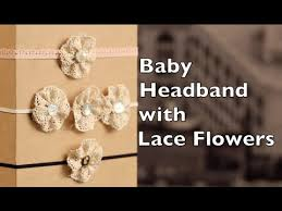 how to make baby flower headbands baby headband tutorial lace flower headband diy
