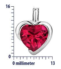 byjoy jewellery byjoy 925 heart shaped ruby pendant on a curb chain on 45 cm e nas