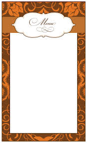 menu thanksgiving menu template