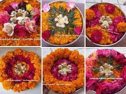 Decoration For Navratri At Home Thaali Decoration Ideas For Navratri Festival Using Fresh Flowers