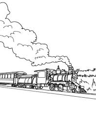 Steam Locomotive Coloring Pages Long Steam Train On Railroad Coloring Page Color Luna by Steam Locomotive Coloring Pages