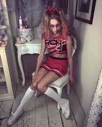 Halloween Costumes Dead Cheerleader Easy Zombie Cheerleader Makeup Mugeek Vidalondon
