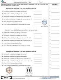 Experimental Probability Worksheet Probability Worksheets Math Function Work Sheets Math