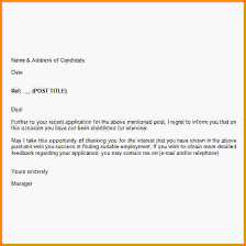 6 rejection letter after interview letterhead template sample