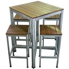 High Bar Table Set High Bar Table Outdoor 3 Piece Set High Table With 2 High Back