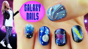 galaxy nails 5 galaxy nail art designs u0026 ideas youtube