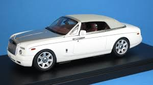 rolls royce white phantom kyosho 1 43 rolls royce phantom drophead coupe english white