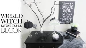 Diy Entry Table by Decorate With Me Diy Wicked Witch Entry Table Halloween Youtube
