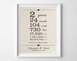 second year anniversary gift ideas 2 years together cotton anniversary print 2nd anniversary days