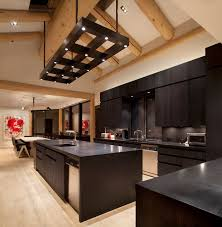 Black Kitchen Light Fixtures Masculine Custom Light Fixture Contemporary Kitchen Denver