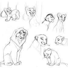 the lion king sketch liked on polyvore featuring disney