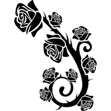 roses branch ornament free vectors logos icons and photos
