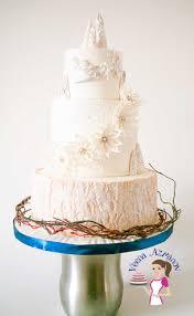 wedding cake tutorial winter theme cake with winter poinsettia veena azmanov