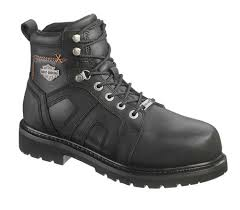 safest motorcycle boots harley davidson men u0027s chad steel toe 5 in black motorcycle boots
