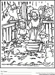 cute christmas coloring pages nativity ginormasource kids