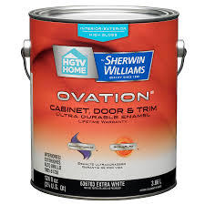 shop hgtv home by sherwin williams ovation white high gloss latex
