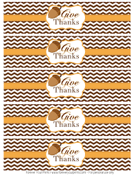 water bottle thanksgiving labels happy thanksgiving