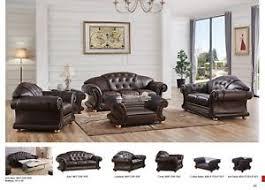 Versace Living Room Furniture Versace Brown Genuine Top Grain Italian Leather Luxurious Living
