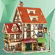 French Style House by Aliexpress Com Buy 3d Wood Puzzle House Construction Building