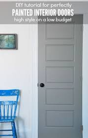Painted Interior Doors Painting Gray Interior Doors How I Did It Interior Door
