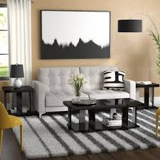 livingroom table sets black coffee table sets you ll wayfair