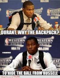 Kevin Durant Memes - the reason behind kevin durant s backpack http