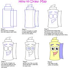 how to draw a map how to draw map by battou fanart central