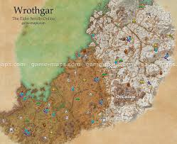 Online World Map by Wrothgar Map The Elder Scrolls Online Game Maps Com