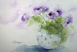 Purple Paint Law by Watercolor Paintings By Roseann Hayes For Nicky