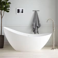 Freestanding Bath Tub White Freestanding Bathtub Signature Hardware