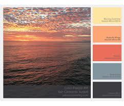 color palette inspiration 01 san clemente sunset u2014 central coast