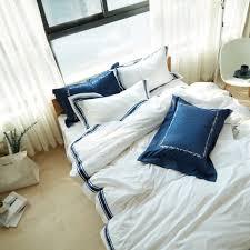 White Bed Set Queen Online Get Cheap Blue Queen Bedding Sets Aliexpress Com Alibaba