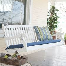 Outdoor Patio Swing by Outdoor Patio Deck 4 Ft Porch Swing In White Wood Finish