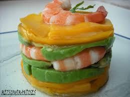 canap avocat crevette crevettes aux avocats et a la mangue metsgourmandises cuisine