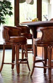 furniture modern rattan counter stools with armrest also wooden