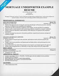 Insurance Underwriter Resume About Sample Underwriter Resumes