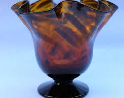 Antique Hand Blown Glass Vases Glass Tortoise Vase Etsy