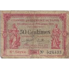 chambre de commerce dijon dijon chambre de commerce 50 centimes 01 12 1919 tres beau