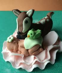 Baby Decorations Woodland Baby Shower Cake Topper Deer Forest Animals Woodland