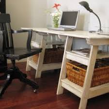 Diy Trestle Desk Furniture Diy Trestle Desk And Sawhorse Desk