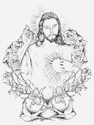 sacred jesus tattoo design photos pictures and sketches