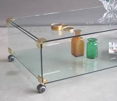 Brass Coffee Table by Furniture Home Large Glass And Brass Coffee Table On Wheels