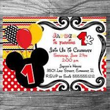 mickey mouse invitation mickey mouse birthday by bandbprintables