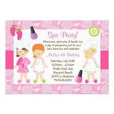 sleepover spa party invitations templates free 4 back to