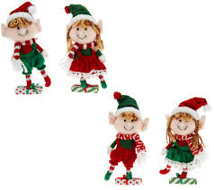 set of 4 plush ornaments with clip by valerie page 1 qvc