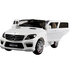 jeep mercedes mercedes benz amg ride on car licensed ml63 jeep white
