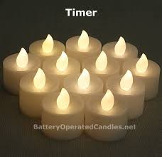 battery operated candles timer tea lights