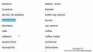 kitchen vocabulary in spanish part 1 spanish for beginners youtube
